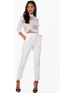 Boutique Taylor Crop & Trouser Co-ord Set