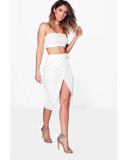 Isla Ring Belt Skirt & Bandeau Co-ord Set