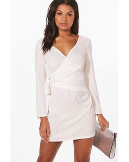 Hollie O-ring Wrap Front Shirt Dress