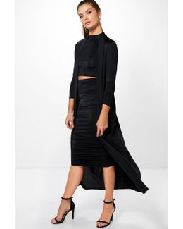 Poppy 3 Peice Duster Skirt & Crop Co-ord Set