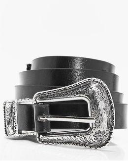 Skye Slim Western Buckle Boyfriend Belt