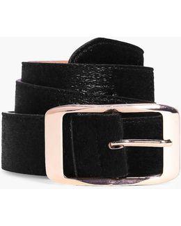 Harriet Faux Pony Boyfriend Belt