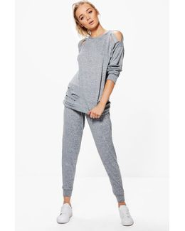 Mia Distressed Knitted Lounge Set