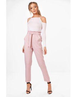 Violet Premium Paper Bag Waist Belted Trouser