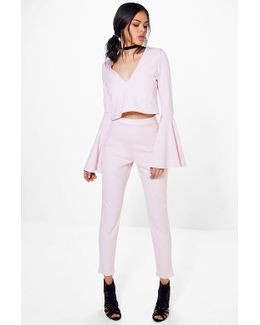 Laura Wide Sleeve Crop & Trouser Co-ord