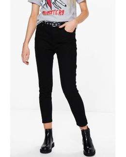 Jess Mid Rise 30' Leg Skinny Jeans