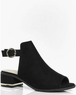 Mia Metallic Trim Peeptoe Shoe Boot