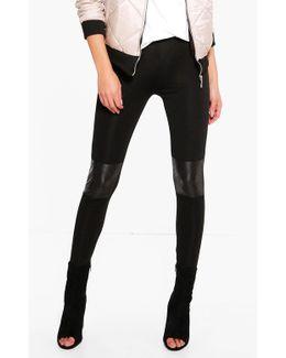 Amarah Quilted Leather Look Knee Leggings
