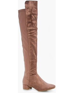 Jess Block Heel Thigh High Boot