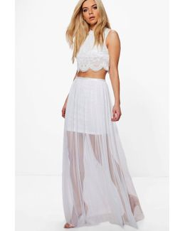 Erica Boutique Beaded Mesh Co-ord Set