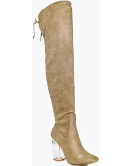 Megan Clear Over The Knee Boot