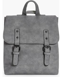 Keira Buckle Detail Structured Backpack