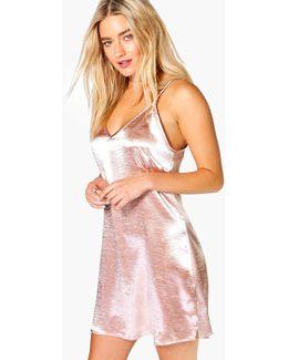 Ava Tie Neck Satin Slip Dress