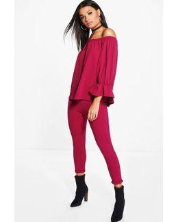 Lia Off Shoulder Top & Skinny Trouser Co-ord Set