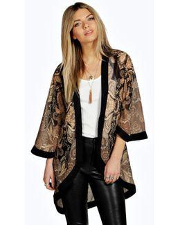 Mandy Tonal Paisley Chiffon Kimono
