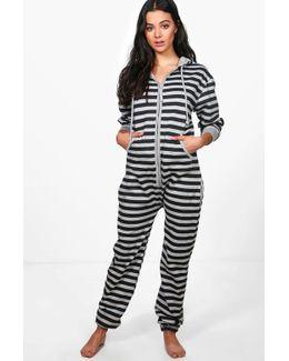 Hayley Stripe Zip Front Onesie