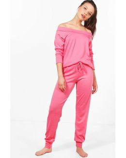 Maisie Bardot Lounge Top And Trouser Set
