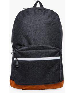 Suedette Panel Backpack