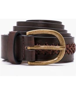 Cross Stitch Detail Belt