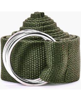 Khaki Xl Canvas Ring Fasten Belt