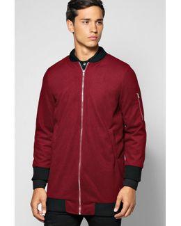 Longline Coat With Ma1 Shoulder Zip