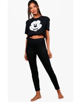 Ebony Disney Mickey Mouse Face Sleep Set