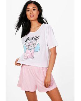 Millie Uni Pug T & Short Set
