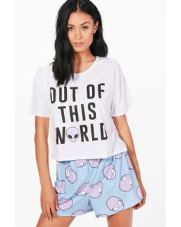Holly 'out Of This World' Pj Short Set