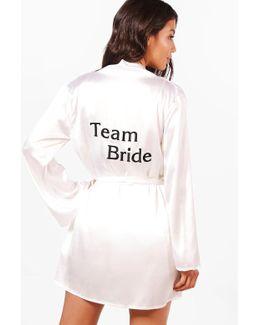 Julia Bride To Be Satin Robe