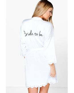 Abigail Bride Slogan Slinky Robe