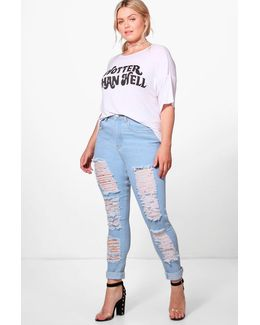 Plus Molly Ripped Skinny Jean