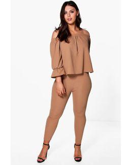Plus Joslyn Frill Top + Trouser Co-ord