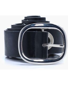Pu Belt With Oversize Eyelets