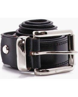 Black Real Leather Belt