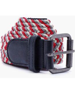 Multi Coloured Plaited Belt