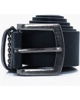 Pu Belt With Chain Detail