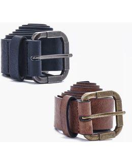 Twin Pack Vintage Buckle Belt