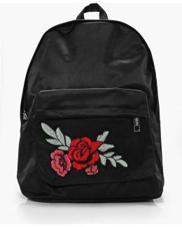 Black Rose Badge Backpack