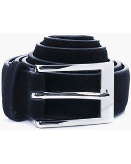 Faux Suede Belt With Metal Buckle Multipack