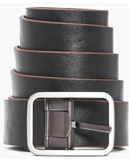 Pu Reversible Belt With Matte Metal Buckle