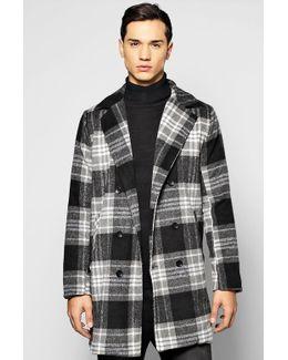 Smart Check Woollike Over Coat