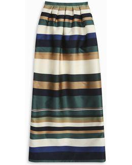 Striped Column Skirt