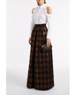 Brocade Long Pleat Skirt
