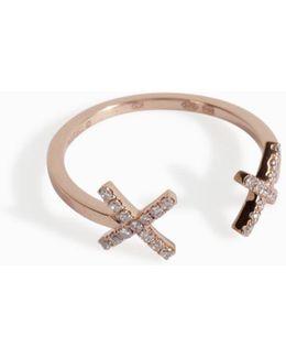 Cross Eye Diamond Ring