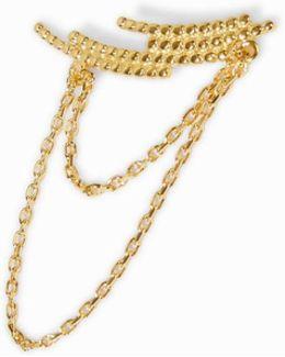 Crescent Chain Ear Cuff - Left