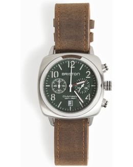 Timeless Chrono Leather Watch