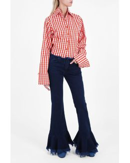 Frill Flared Jeans