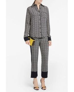 Disk Print Pyjama Trousers