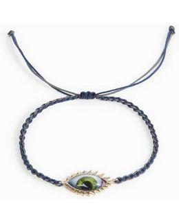 Green Eyelash Bracelet