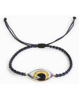 Yellow Enamel Eye Bracelet